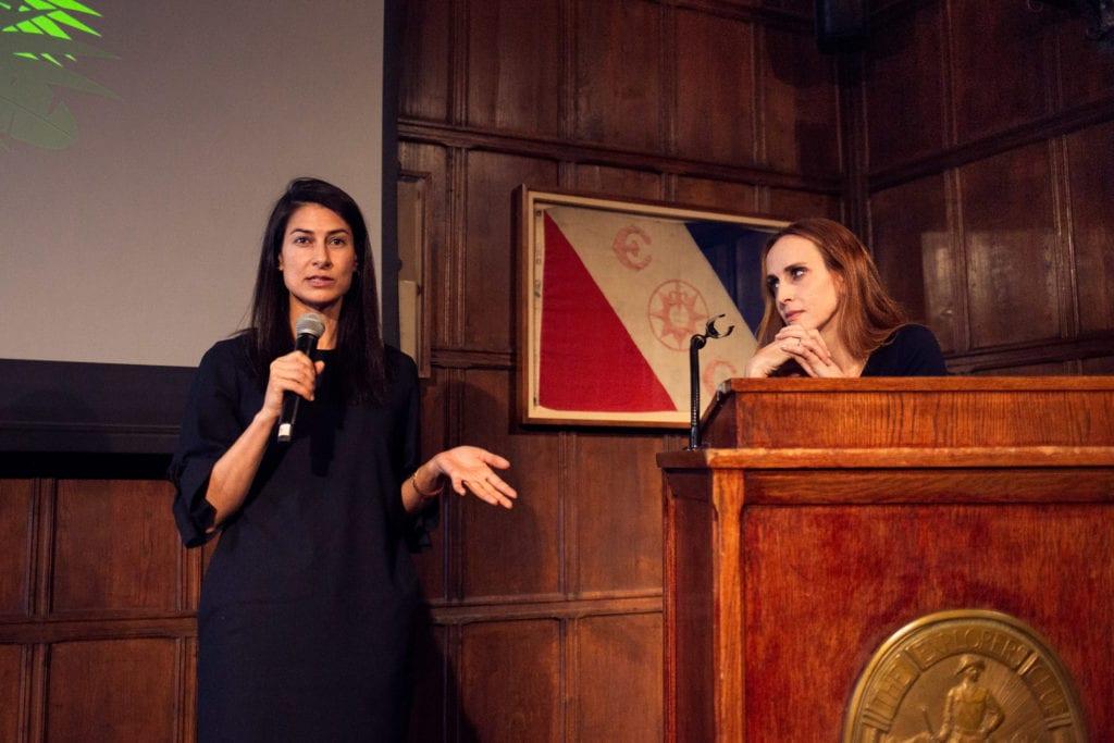 """Anjali Nayar, Director, """"SILAS"""" Best Environmental Film 2019 and Faith Salie."""